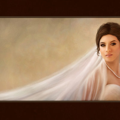 Fine Art Painted Bridal Portraits from Houston Wedding Photographers - FireHeart Photography