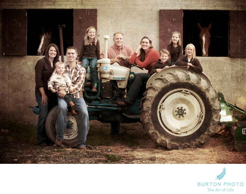 Boone Family Portrait at the Farm