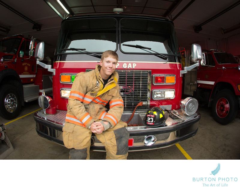 Boone Senior Portrait Volunteer Firefighter