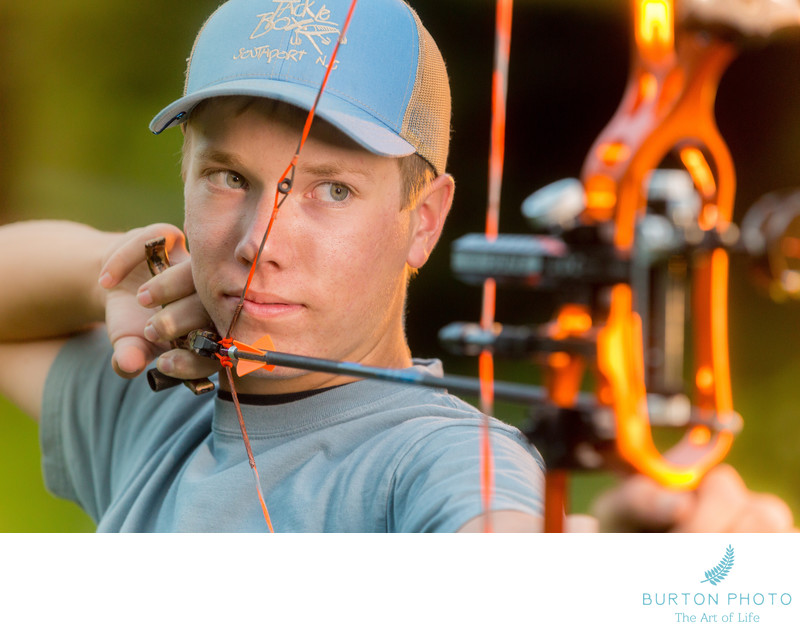 Boone Senior Portrait Archery