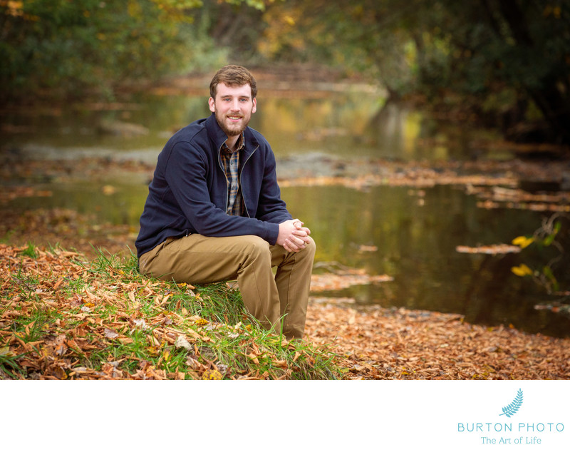 Boone Scenic Senior Portrait Mountain Stream