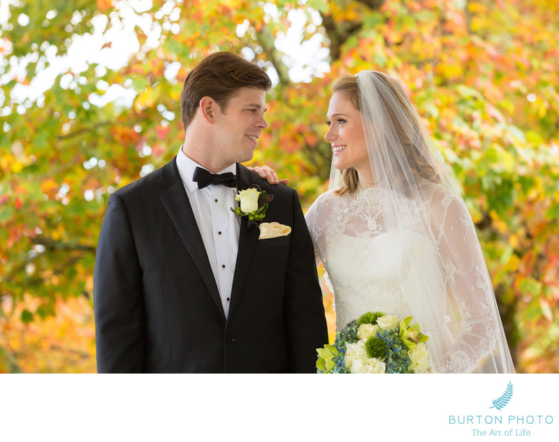 Wedding Photo Blowing Rock Country Club Bride and Groom