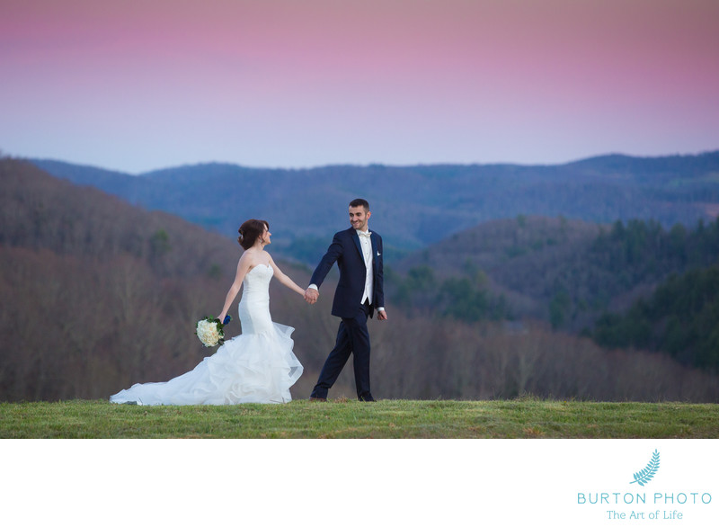 Ashe County Wedding Photo Bride and Groom Mountain View
