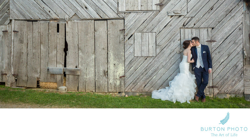 Wedding Photo at Old Barn near West Jefferson