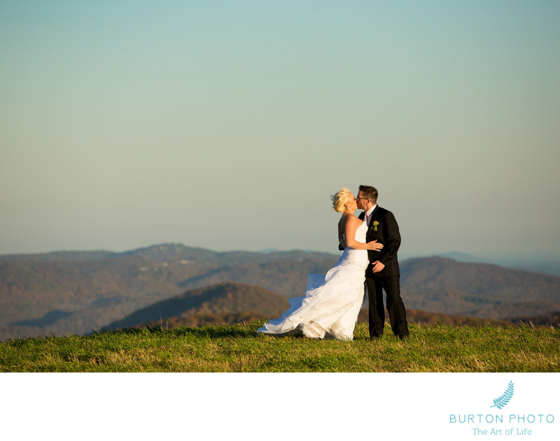 Wedding Pictures in Banner Elk Mountain View