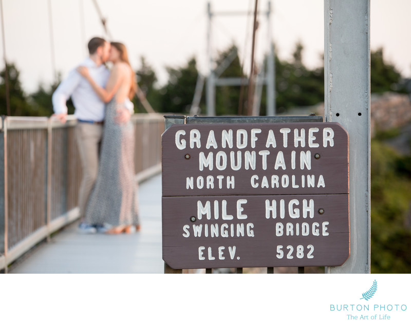 Engagement Session Mile High Swinging Bridge Linville