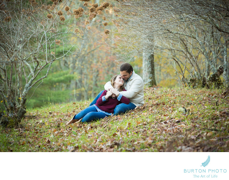 Engagement Photos Bass Lake Blowing Rock