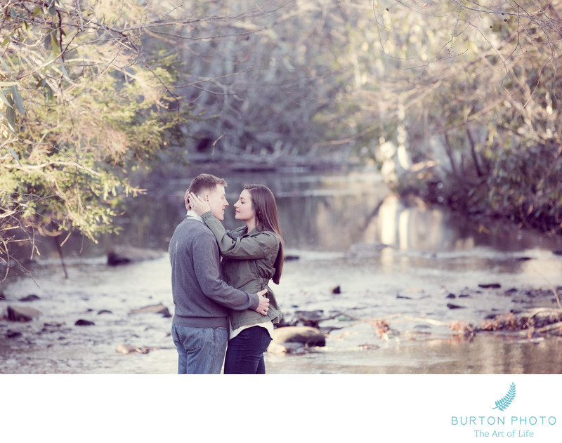 Boone Fork Engagement Portrait