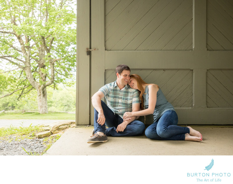 Engagement Portraits Moses Cone Estate Blowing Rock