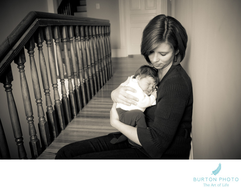 Newborn Baby Portraits With Mom Asheville