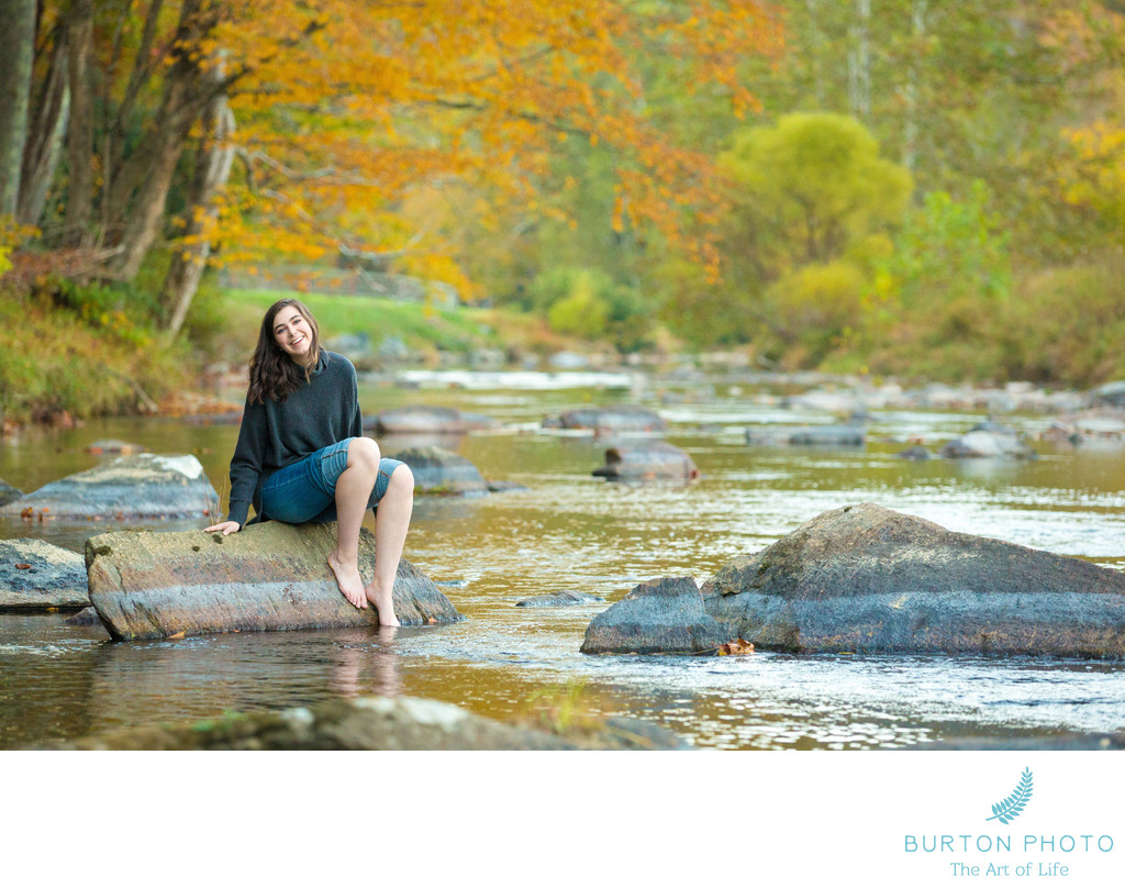 Boone Senior Portrait Photographers Watauga River