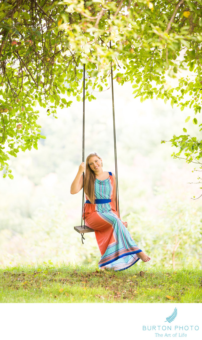 Boone Senior Portrait Photos Tree Swing