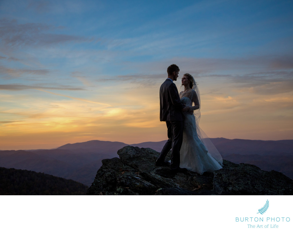 Wedding Photography at Twickenham House Sunset Portrait