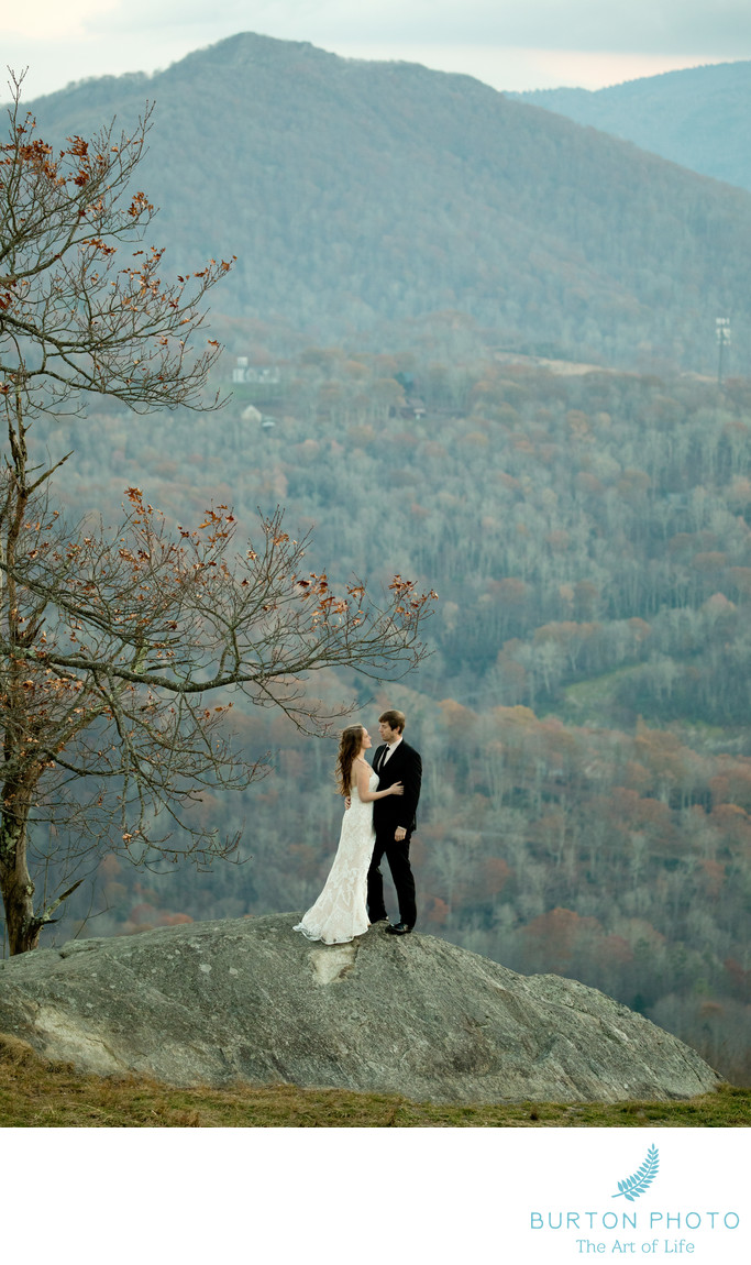 Wedding Photo at Banner Elk Cliff