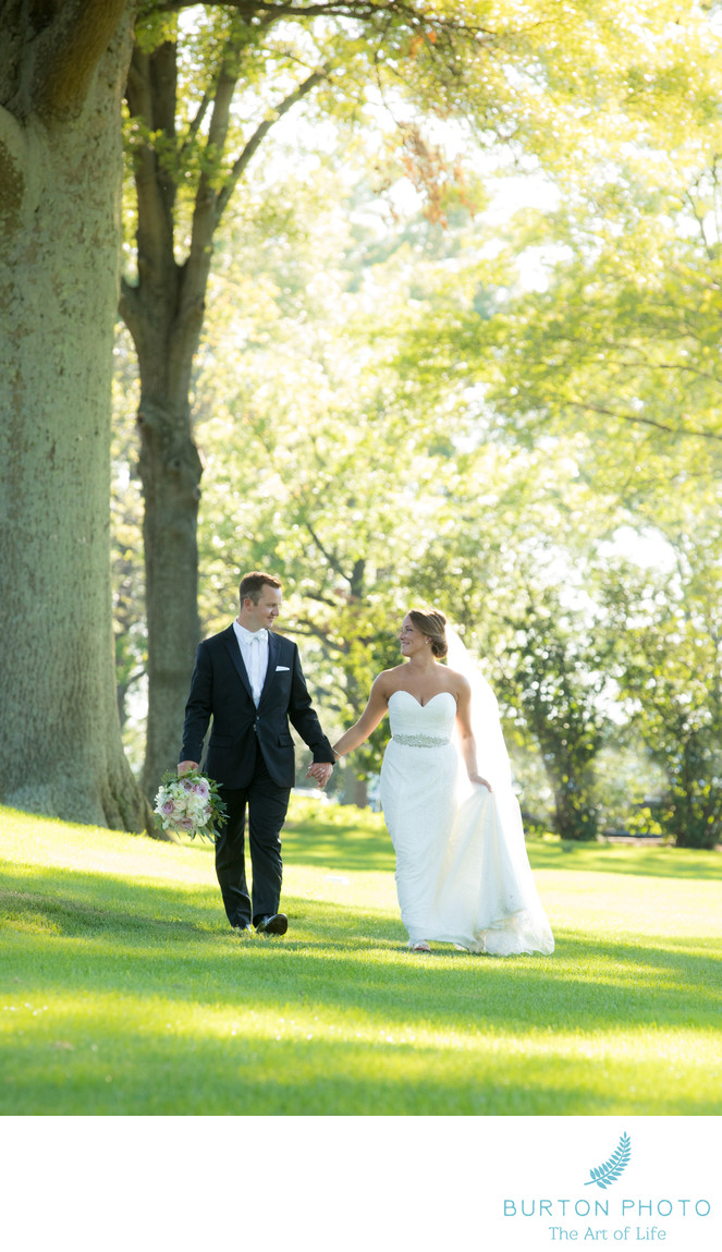 Kenwood Country Club Wedding Photo Romantic Portrait