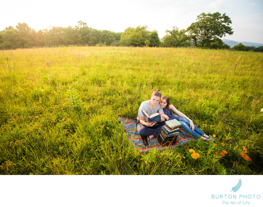 Engagement Session Blue Ridge Parkway Doughton Park