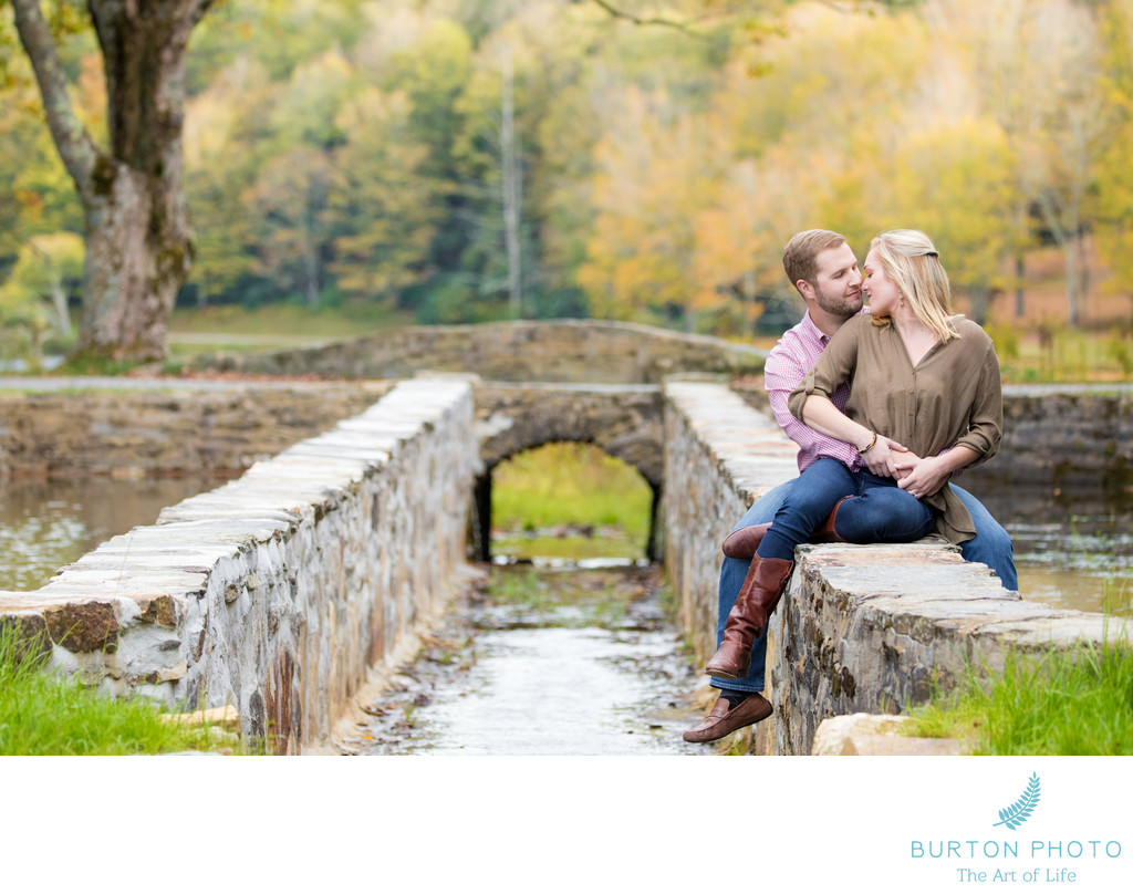 Blowing Rock Engagement Photos Bass Lake