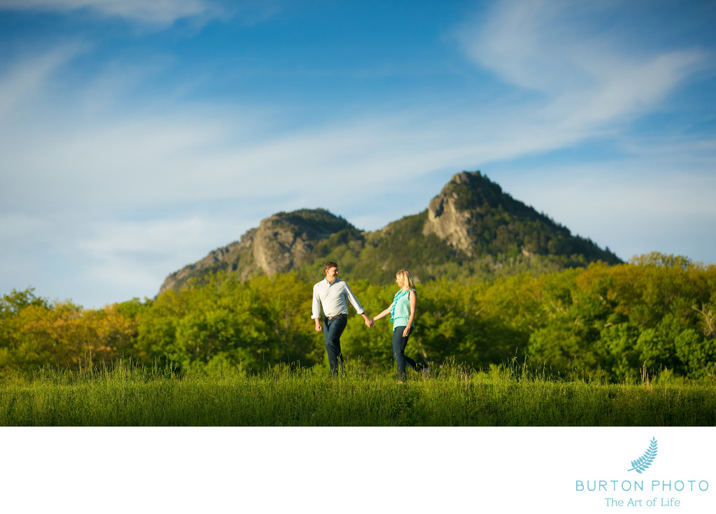 Engagement Portrait MacRae Meadows Grandfather Mountain