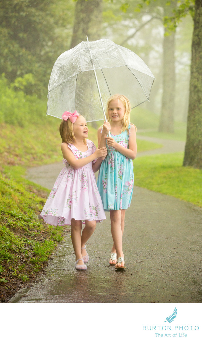 Blowing Rock Children Portrait Sisters