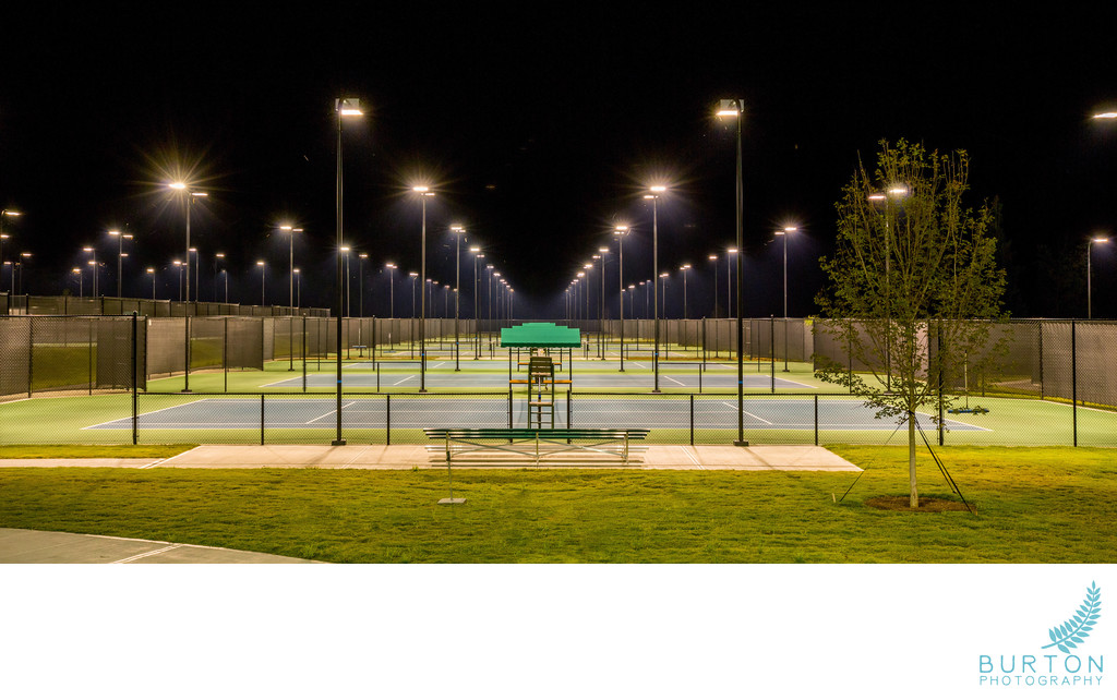Boone Commercial Photographers Rome Tennis Center Night