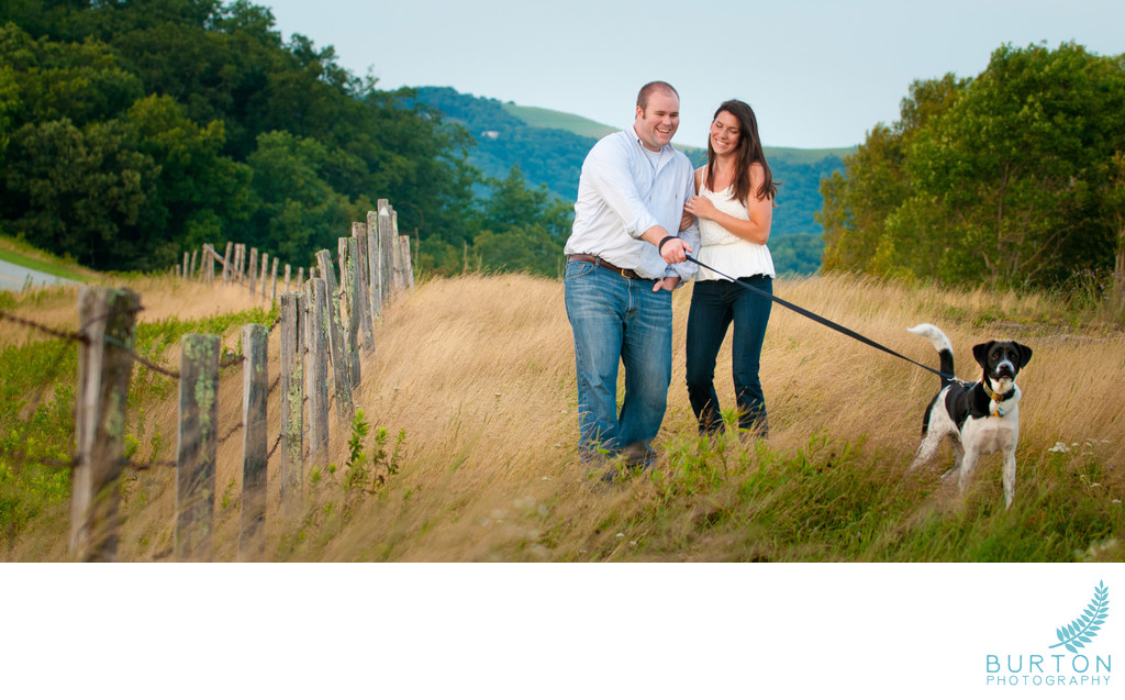 Engagement Portraits Blue Ridge Parkway