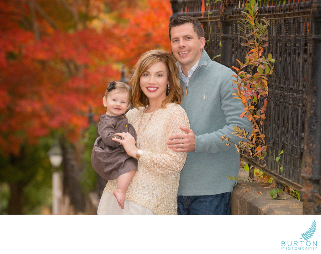 Winston-Salem Fall Family Portrait with Baby