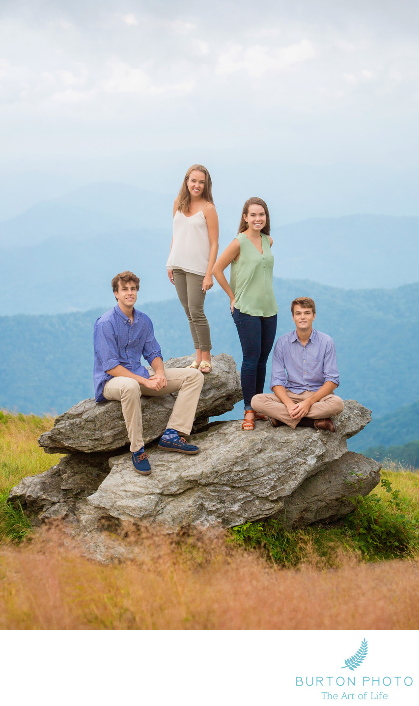 Portrait of Siblings Roan Mountain