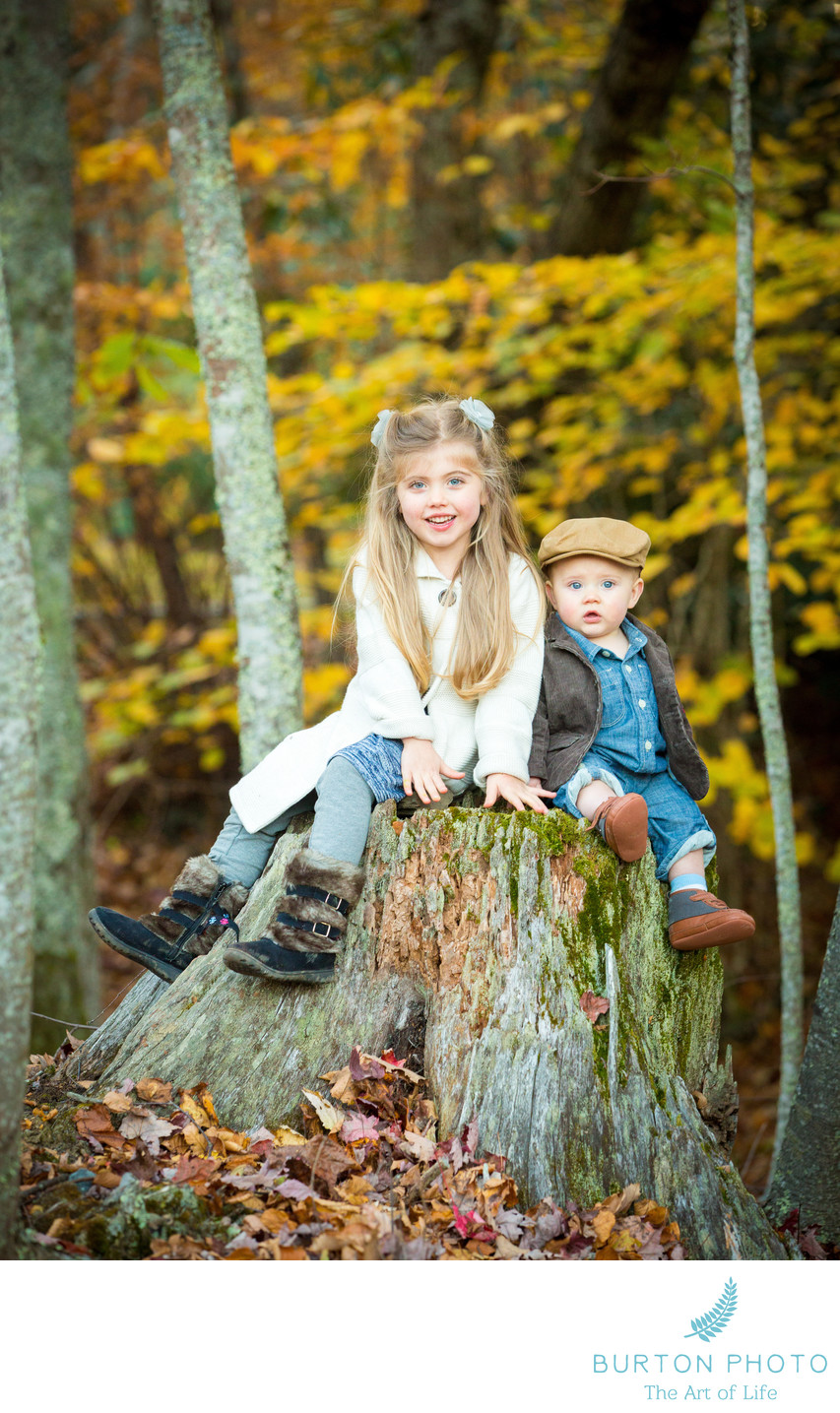Blowing Rock Portrait of Siblings