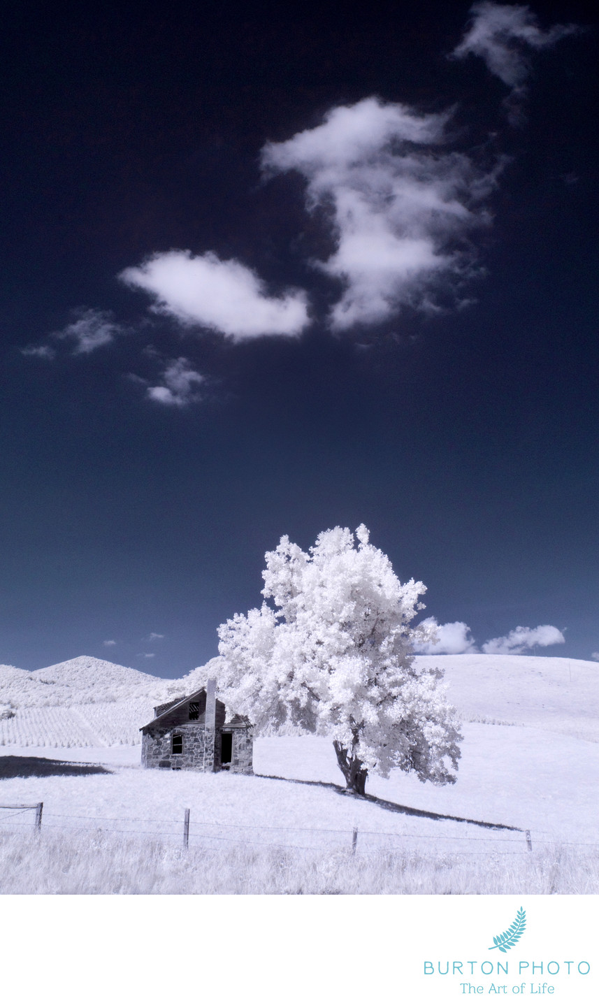 Blue Ridge Parkway Scenic Photographer Infrared Cabin