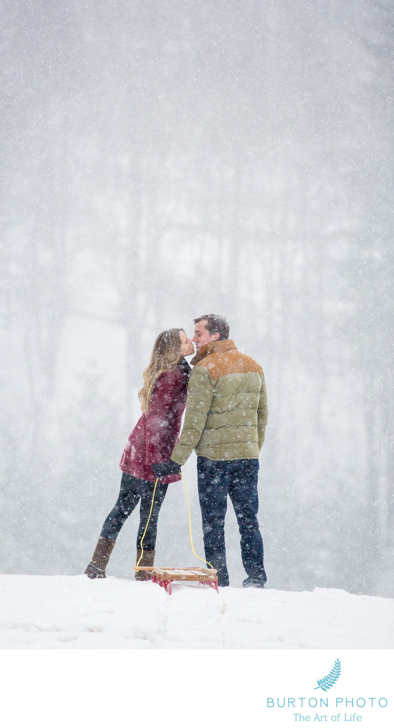 Engagement Portraits Boone Winter