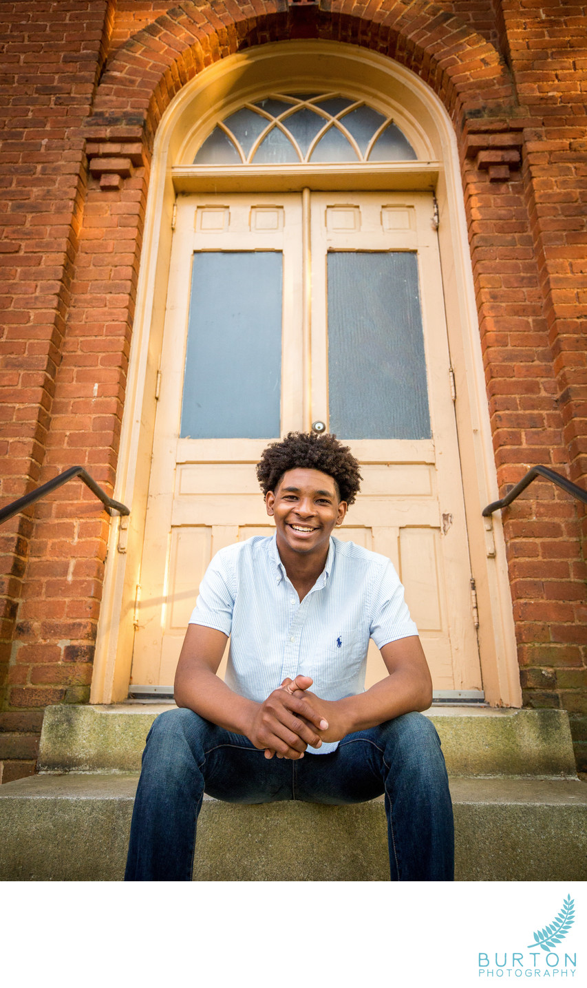 Senior Portrait in Downtown Winston-Salem