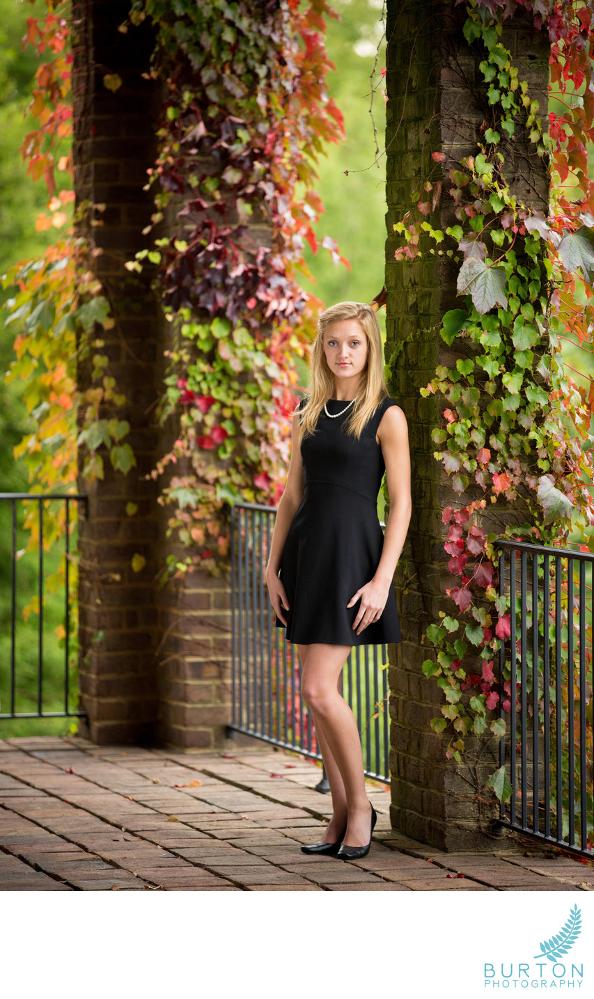 Boone Senior Portrait Maggie Fall Color