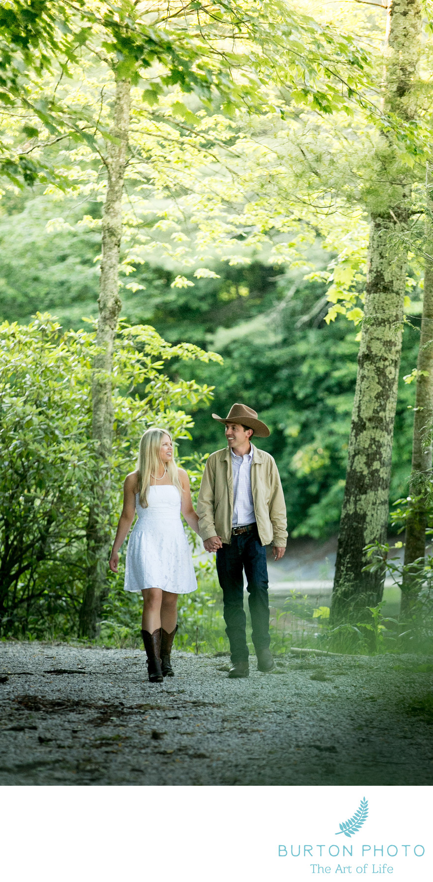 Blowing Rock Country Club Engagement Session
