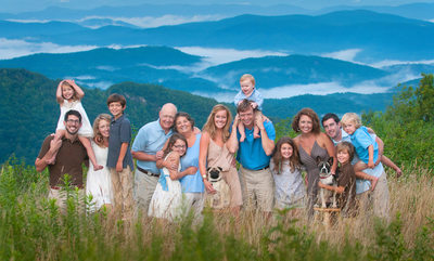 Family Portrait Blowing Rock Thunder Hill