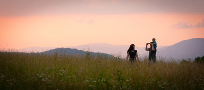 Family Portrait Sunset Moses Cone Estate Blowing Rock
