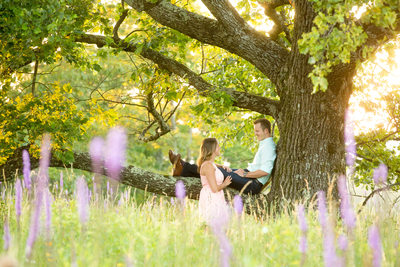Engagement Portrait Doughton Park Blue Ridge Parkway