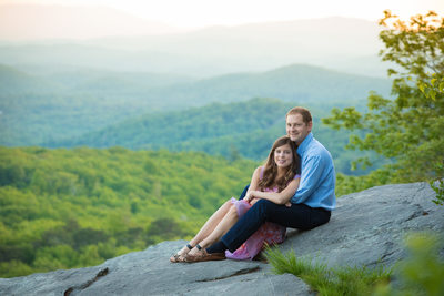 Linville Engagement Portrait Beacon Heights