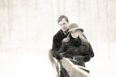 Engagement Portrait Blowing Rock