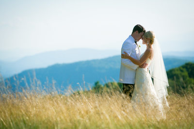 Linville Ridge Wedding Photographer Romantic Portrait