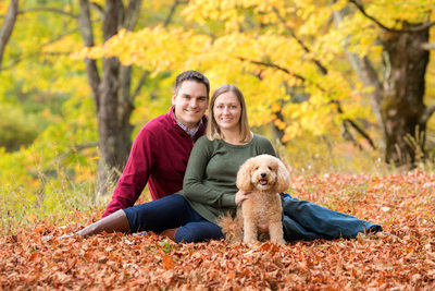 Family Portrait Session With Dog