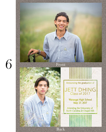 Custom Grad Announcement Watauga High School
