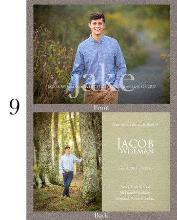 Avery County High School Senior Portraits Grad Card