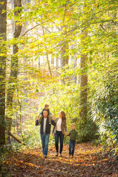 Family Portraits Blowing Rock Mountains to Sea Trail