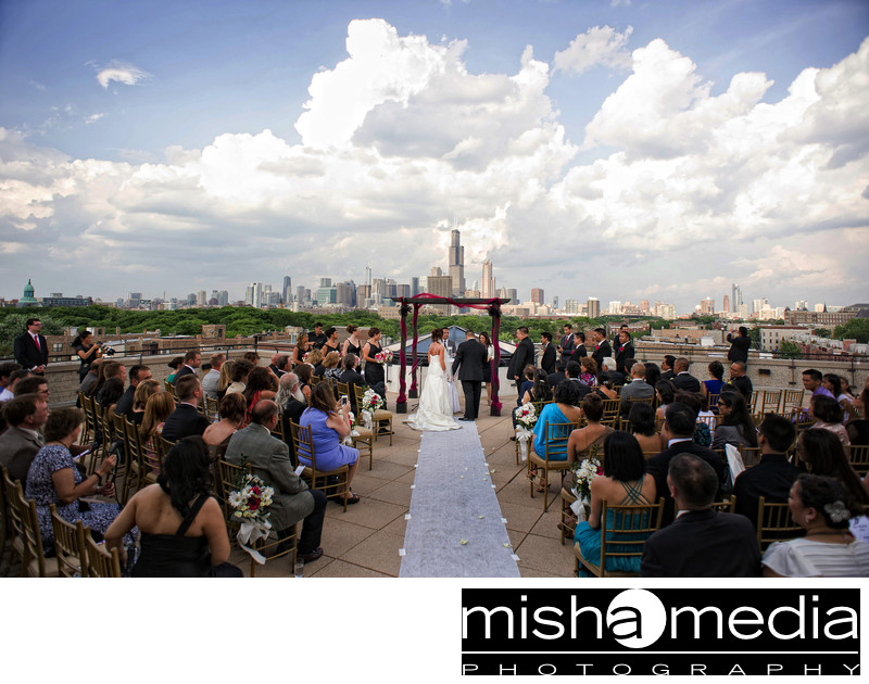 Outdoor wedding in Chicago