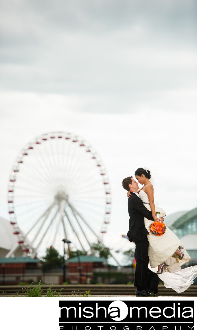 Wedding Photographs at Navy Pier
