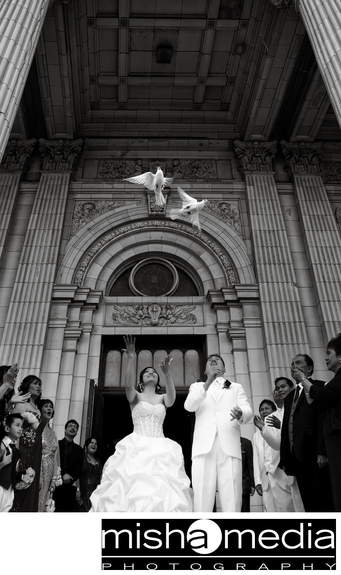Church weddings at St. Mary of The Angels