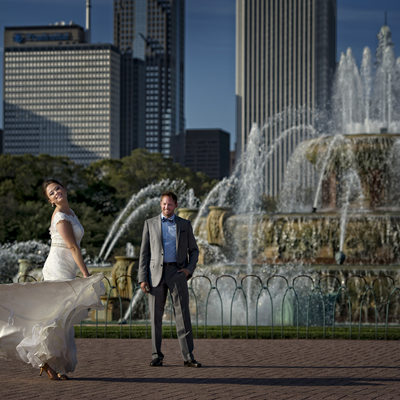 Wedding Photos at Buckingham Fountain