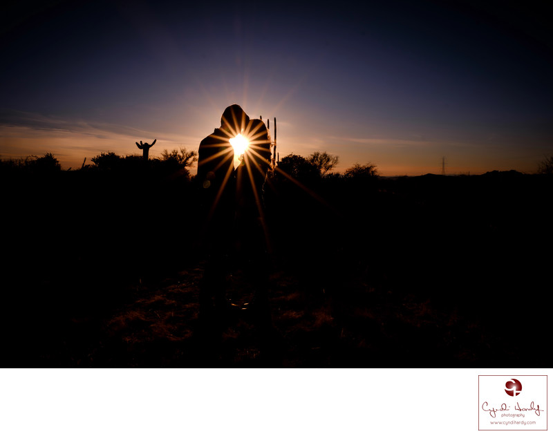Silhouette Engagement Scottsdale Photographers
