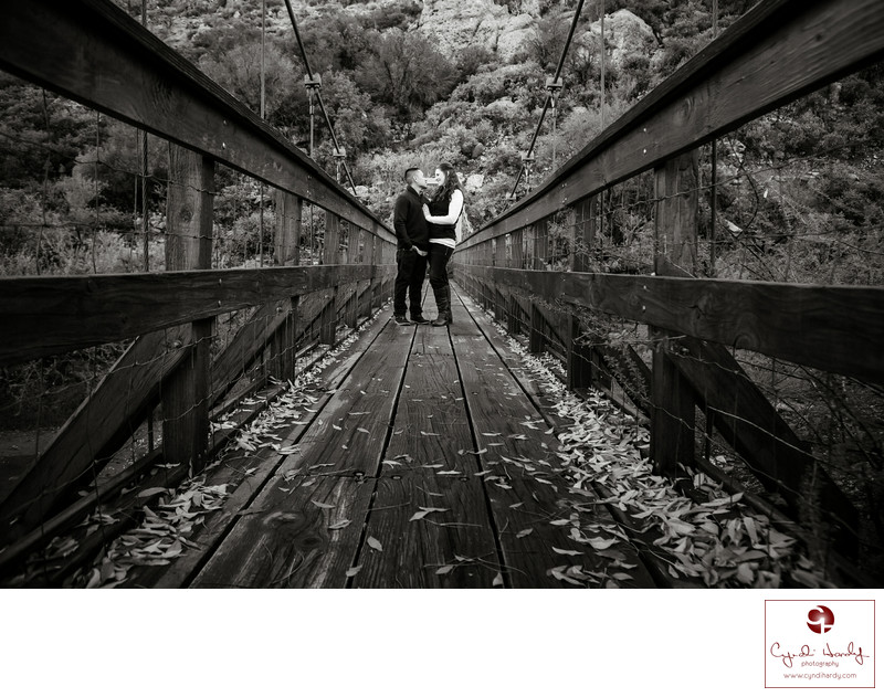 Boyce Thompson Arboretum Engagement Photography