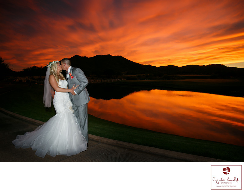Sunset wedding photos Phoenix